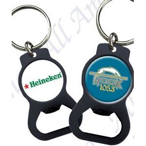 The Eye Opener Urethane Domed Black Powder Coated Key Chain