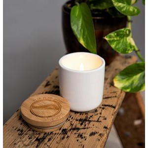 Soy Wax Candle with Bamboo Lid US Made